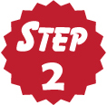"red circle that says ""Step 2"""