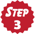"red circle that says ""Step 3"""