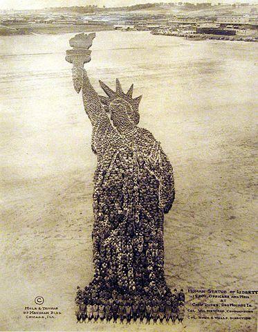 Mole and Thomas' Human Statue of Liberty