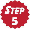 Step 5 red circle icon