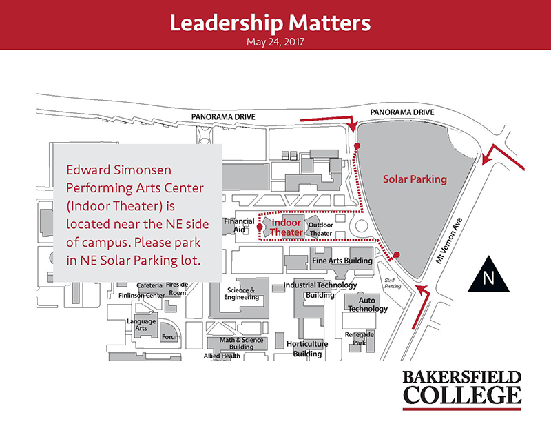 Leadership Matters Parking Map