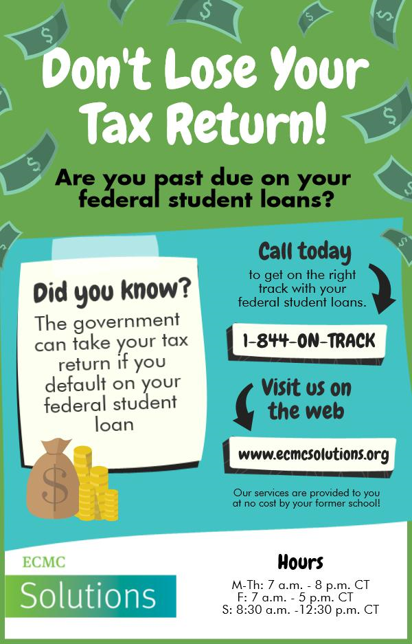 Don't Lose your tax refund from loan default