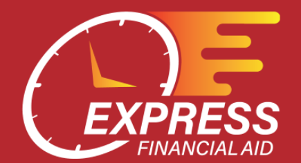 Express Financial Aid Logo with clock
