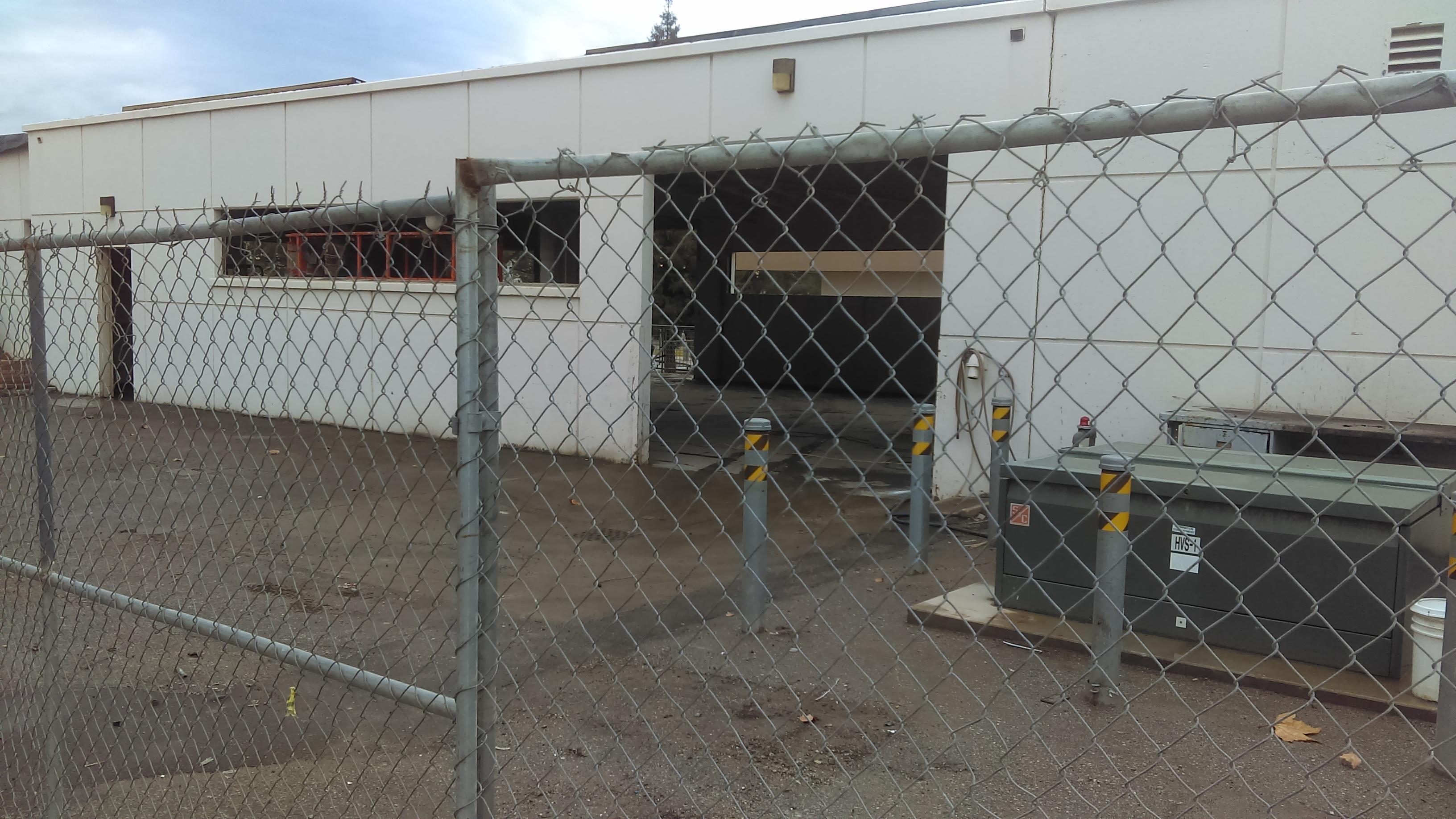 Progress picture of STEM Center transformation when it was a garage