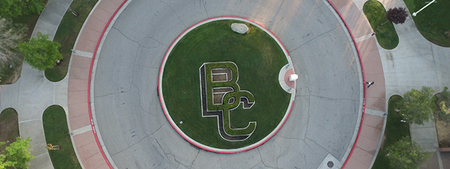 BC circle in front of admin building
