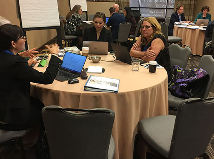 BC team at Guided Pathways Institute, February 2016