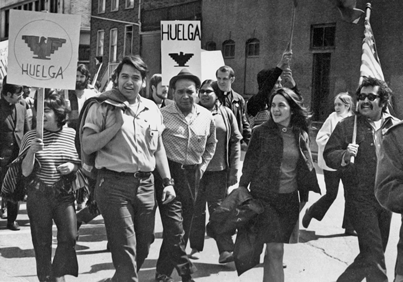 Eliseo Medina, left, and Latina organizer Dolores Huerta