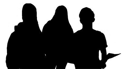 Shadow of three BC students. Click to view scorecard on Student Profile