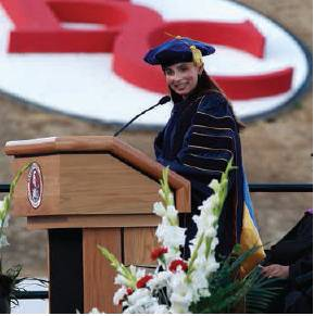 President Sonya Christian at Graduation
