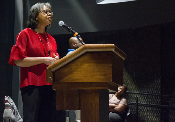 Anita Hill Speaking in the Indoor Theater