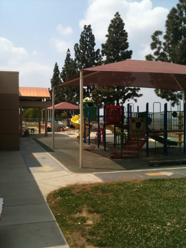 Playground outside the Bakersfield College Child Development Center