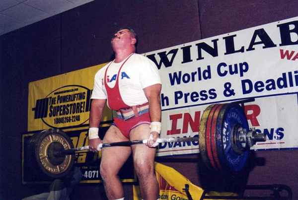 Cody Colchado Jr. dead-lifts 644 pounds in the International Blind Sports Powerliifting and Bench Press World Championships held in Reno, Nev., in 2007