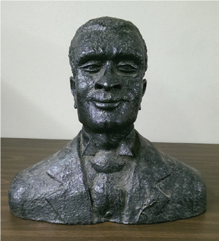 bust of unidentified African-American male