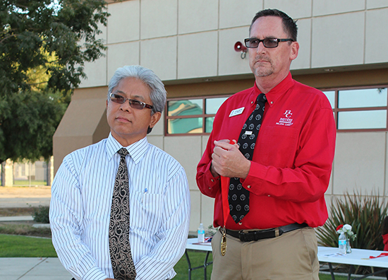 Danny Ordiz receives his 100 Stars of Bakersfield College medal