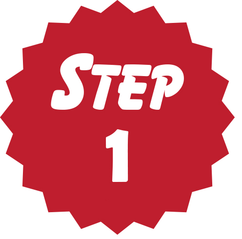Step 1 red circle icon