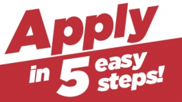 Apply in 5 easy steps!