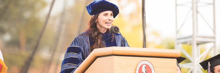 President Sonya Christian Commencement