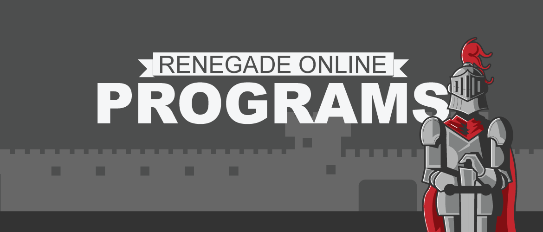 flyer for Renegade Online Programs