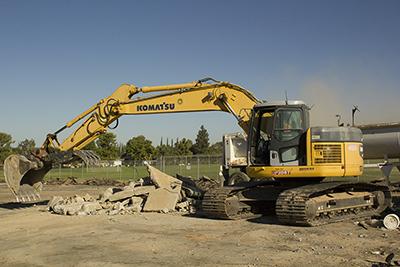 Bulldozer on BC campus