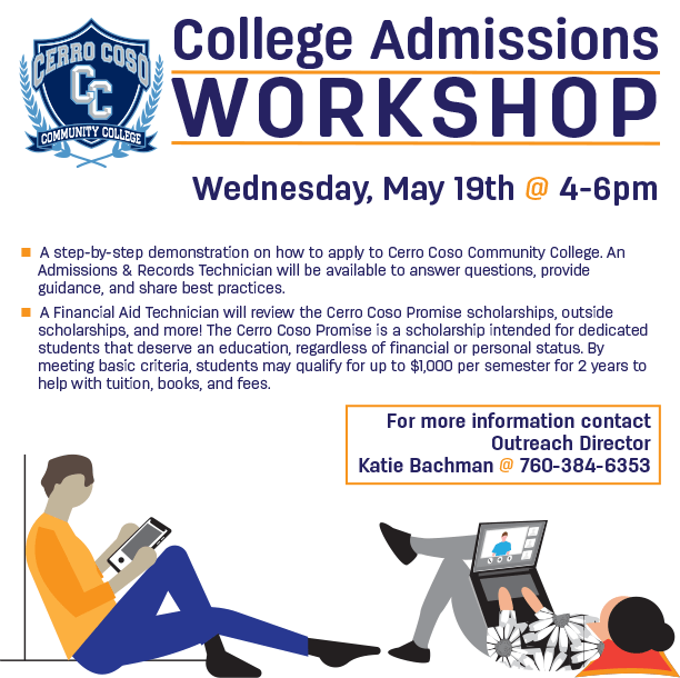 College Admissions Workshop - May 19, 2021