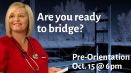 Are you ready to bridge? Pre-orientation Oct 15 @ 6pm