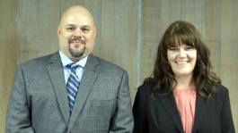 Professor Matt Wanta, Nursing Director, and Becky Rock, Accounting Manager