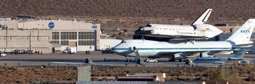 Shuttle at Edwards AFB