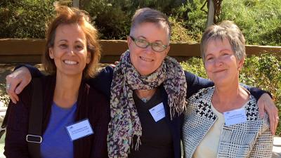 Language instructors Lucila González-Cirre (Spanish), Pamela Poole (French), and Denali St. Amand (Latin)