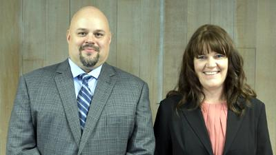 Professor Matt Wanta, Nursing Director, and Becky Rock, Accounting Manager