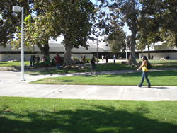 Photo of students on campus.