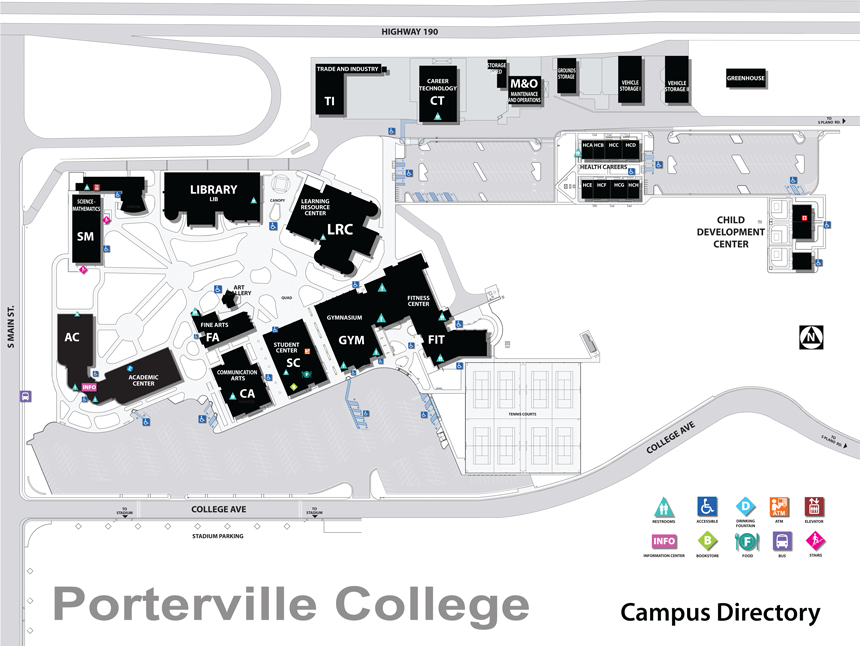 Campus Map | Porterville College