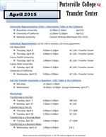 Transfer Center Activities Schedule thumbnail